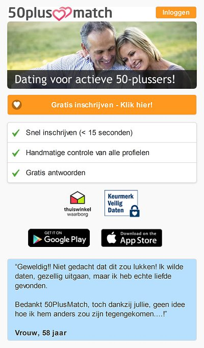 dating websites 50 en meer